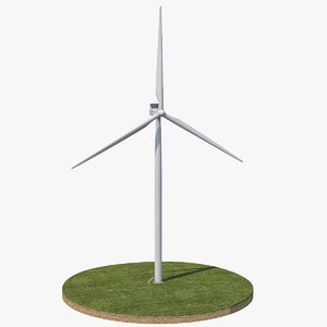3D wind turbine ground