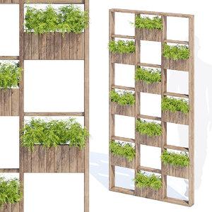 garden green wall 3D model
