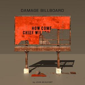 3D damage billboard model