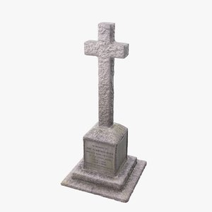 stone war cross 3D model
