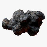 rocky asteroid 3 model