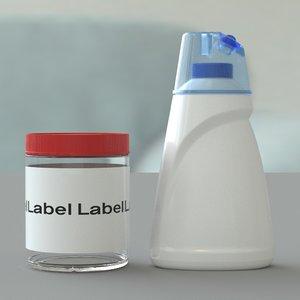 detergent container 3D
