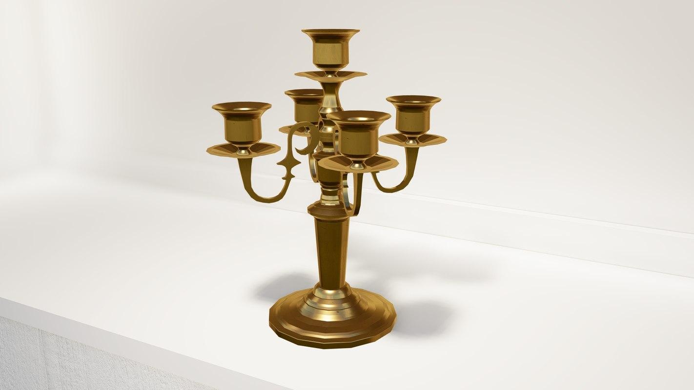 3D antique holder model
