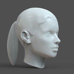 3D model head young woman