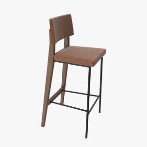 stool barstool oakland 3D