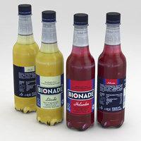 3D bottle beverage