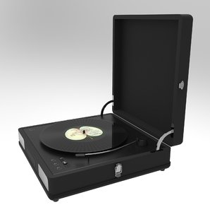 vinyl record player 3D model