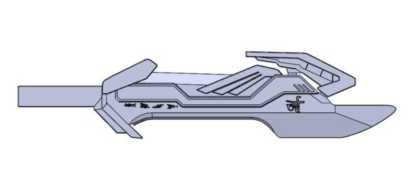 3D energon sword optimus prime