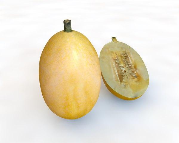 3D onion potato model