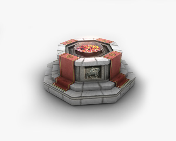 altar shrine pit 3D model