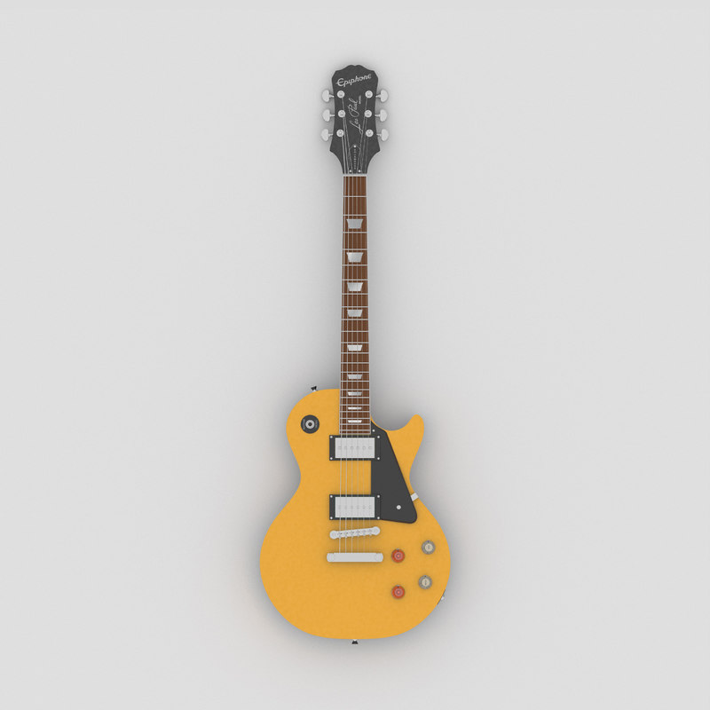 Epiphone Guitar Models : electric guitar epiphone model turbosquid 1403909 ~ Russianpoet.info Haus und Dekorationen
