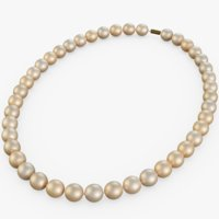 3D necklace pearl neck model