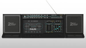 3D philips d8274 cassette recorder model