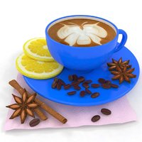 3D coffee orange anise