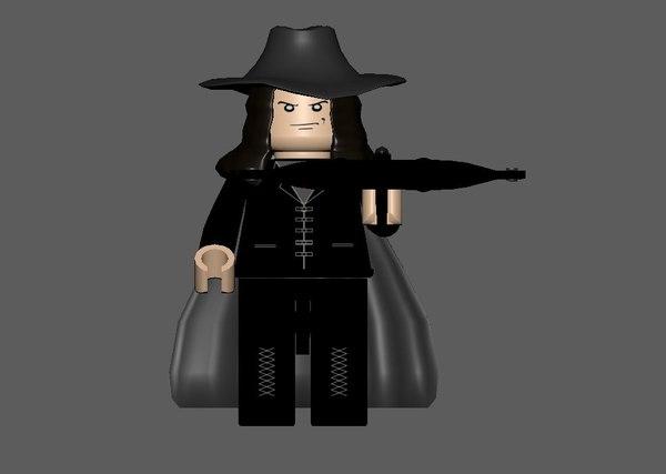 van helsing lego minifigure model