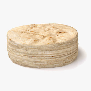 tortilla pile 3D model