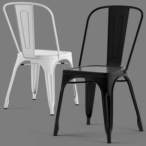 tolix chairs seat 3D model