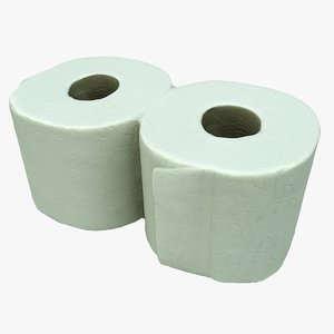cleaned toilet paper 3D