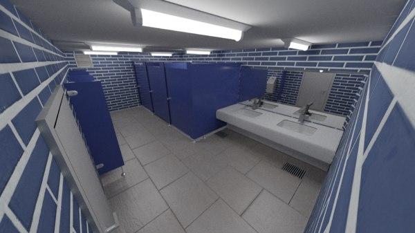 public restroom 3D model