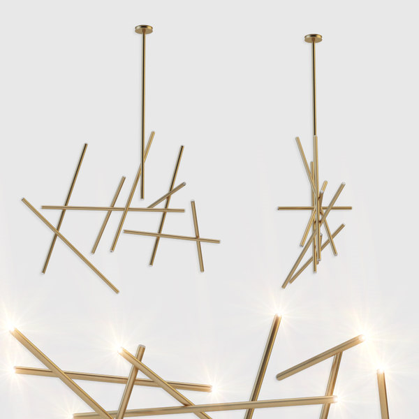 3D 18-light led chandelier crossroads model