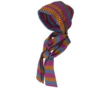 3D knit cap scarf model