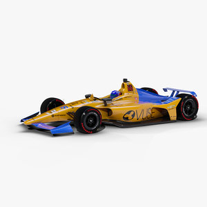 rigged indy car 3D model