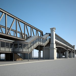 elevated railway 3D