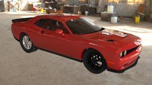 3D dodge challenger car