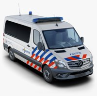 mercedes-benz sprinter dutch police 3D model