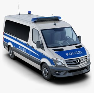 mercedes-benz sprinter german police 3D model