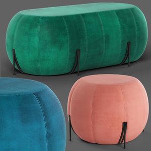 loftdesigne poufs 10868 10861 3D