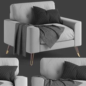 3D cultfurniture charlotte armchair