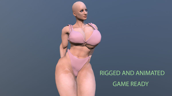 3D model nude athletic female
