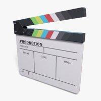 film clapboard movie clapper 3D model