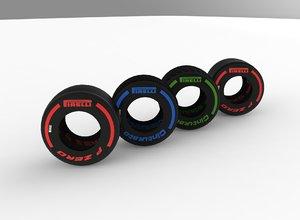 pirelli f1 2019 3D model