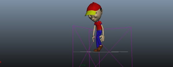 boy rig animation 3D model
