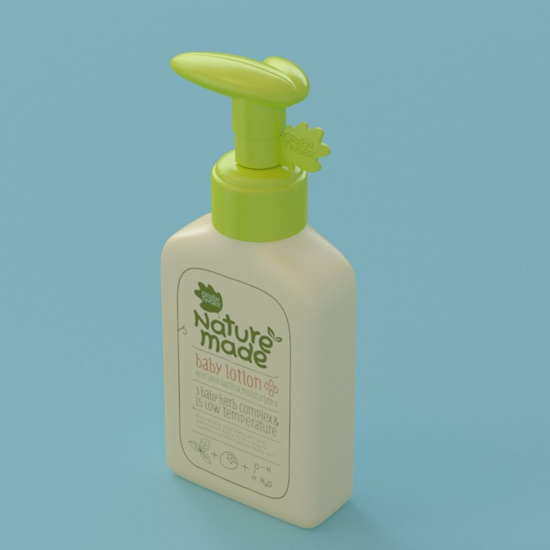 baby lotion container nature 3D model