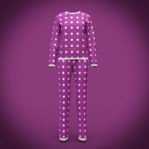 3D pajama design model