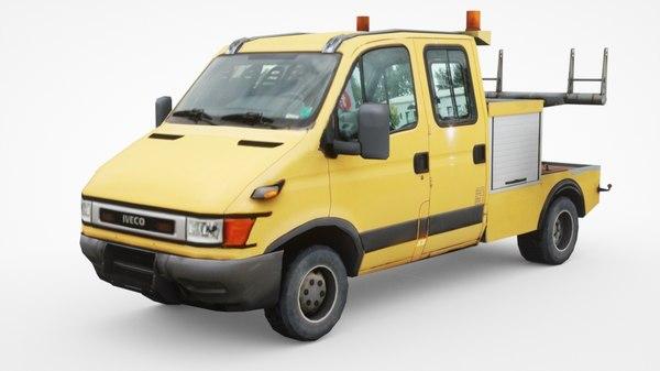 3D iveco 50c13 tow truck