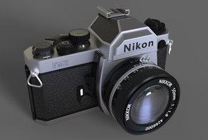 3D nikon fm2 camera model