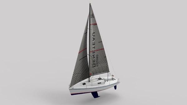 3D rhinoceros sails boat