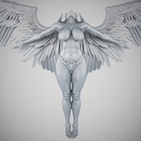 3D angel evil model