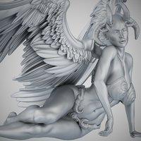 angel evil 3D model