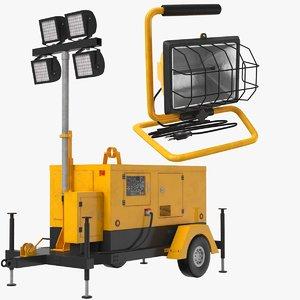 real construction mobile lights 3D model