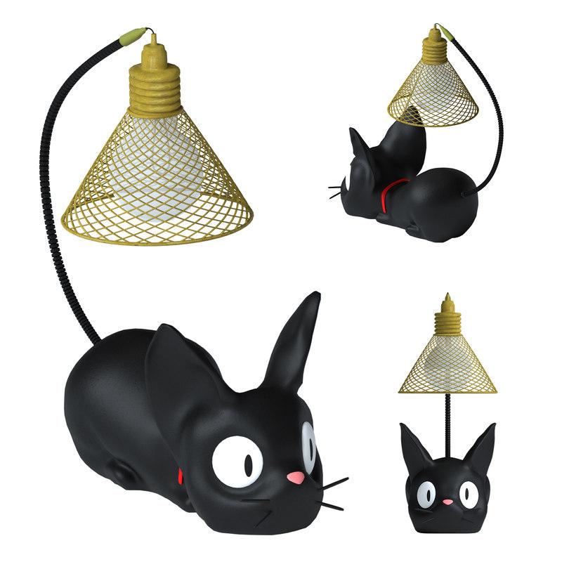 3D lamp cat model