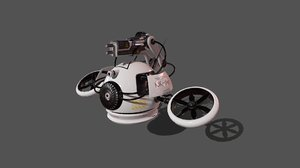 sci-fi drone 3D