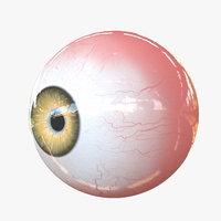 3D real eye yellow
