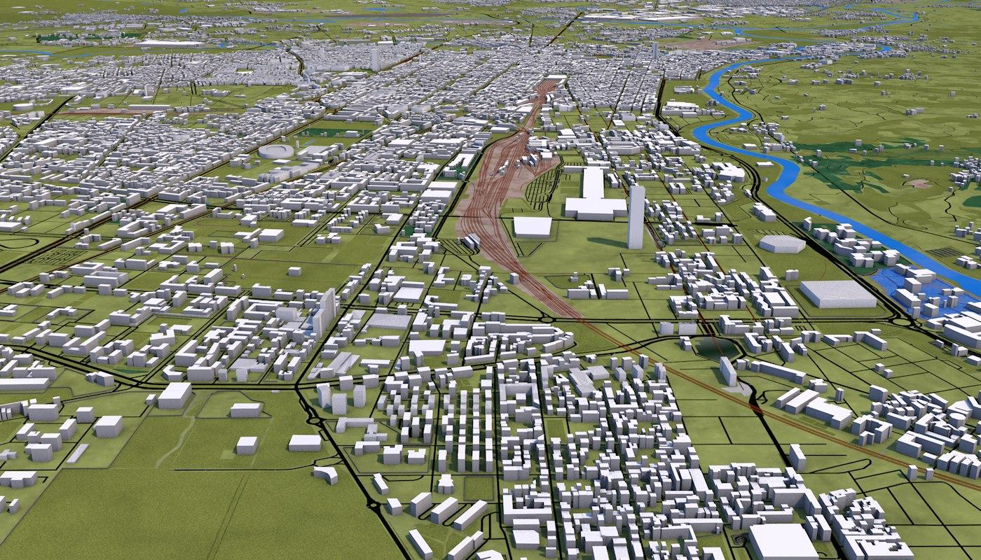turin city 3d model
