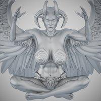 3D angel evil