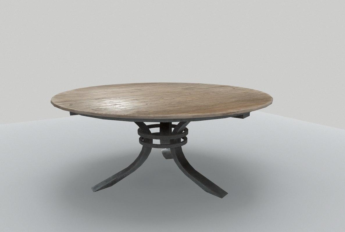 table wooden terraces 3D